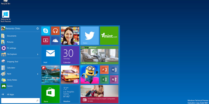 Download Windows 10 Technical Preview e guida all'installazione